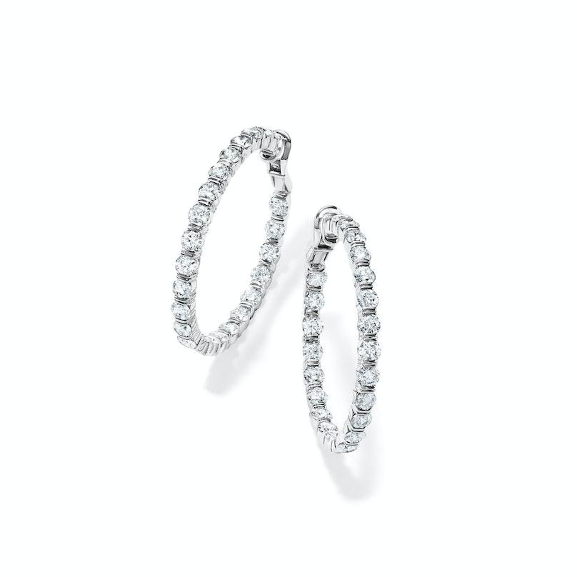 Harry Winston Gemlock Hoop diamond earrings