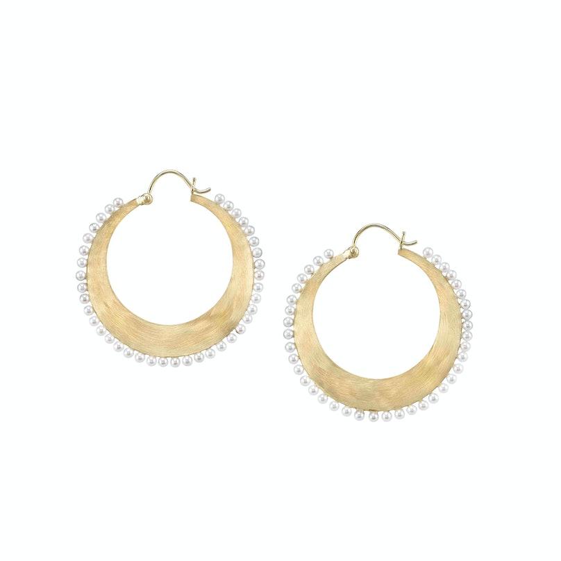 Irene Neuwirth 18k Yellow Gold Hoop Earrings