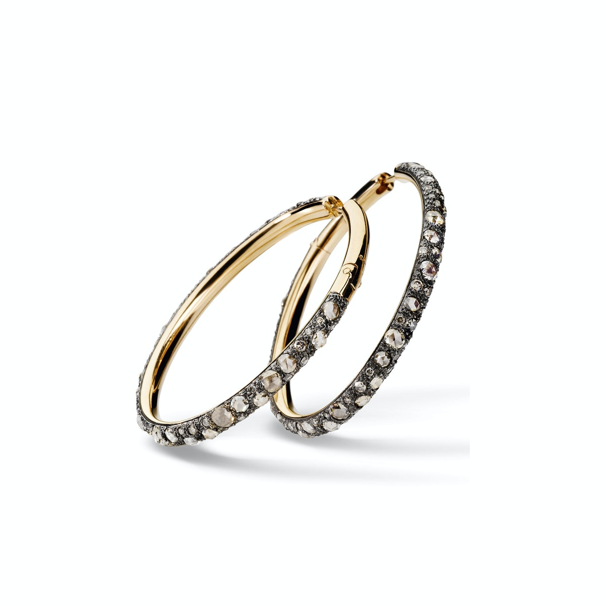 Pomellato Tango earrings in 18kt rose gold and brown diamonds