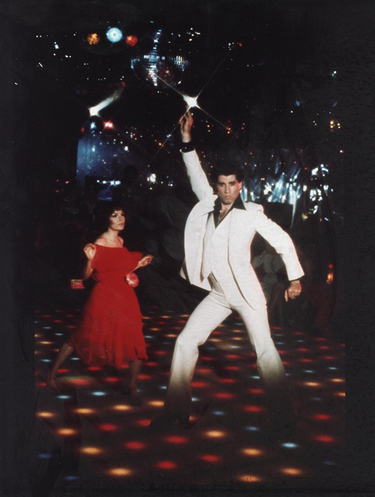 John Travolta in Saturday Night Fever, 1977.