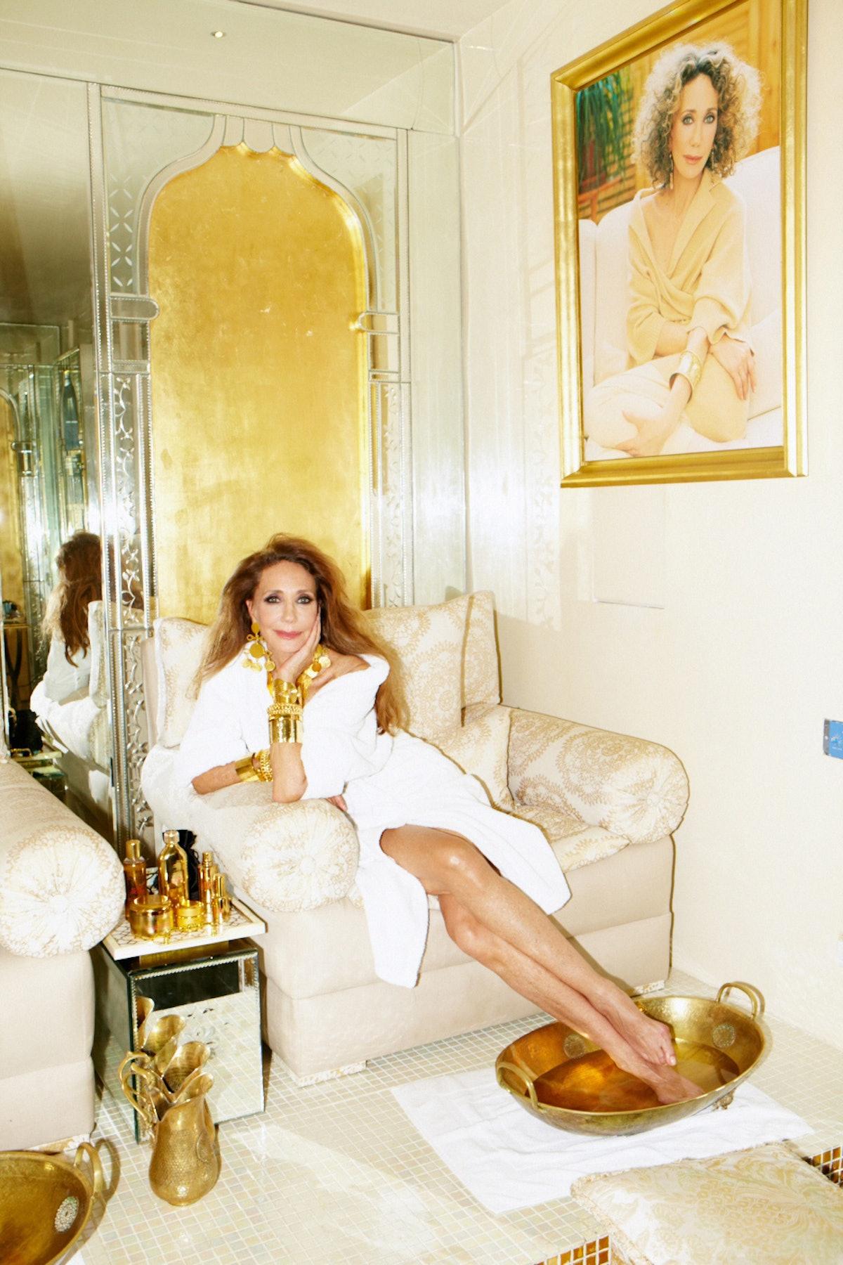 Marisa Berenson at Home in Marrakech