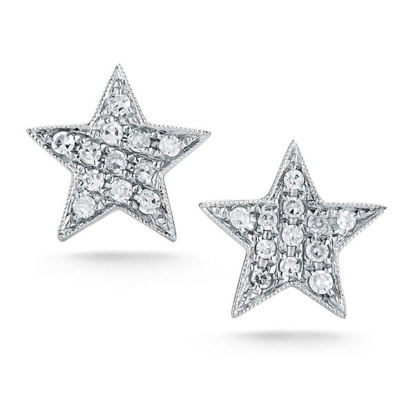 Dana Rebecca Designs 14K white gold and diamond earrings