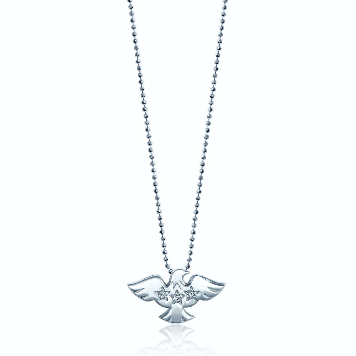 Alex Woo 14k white gold and diamond necklace