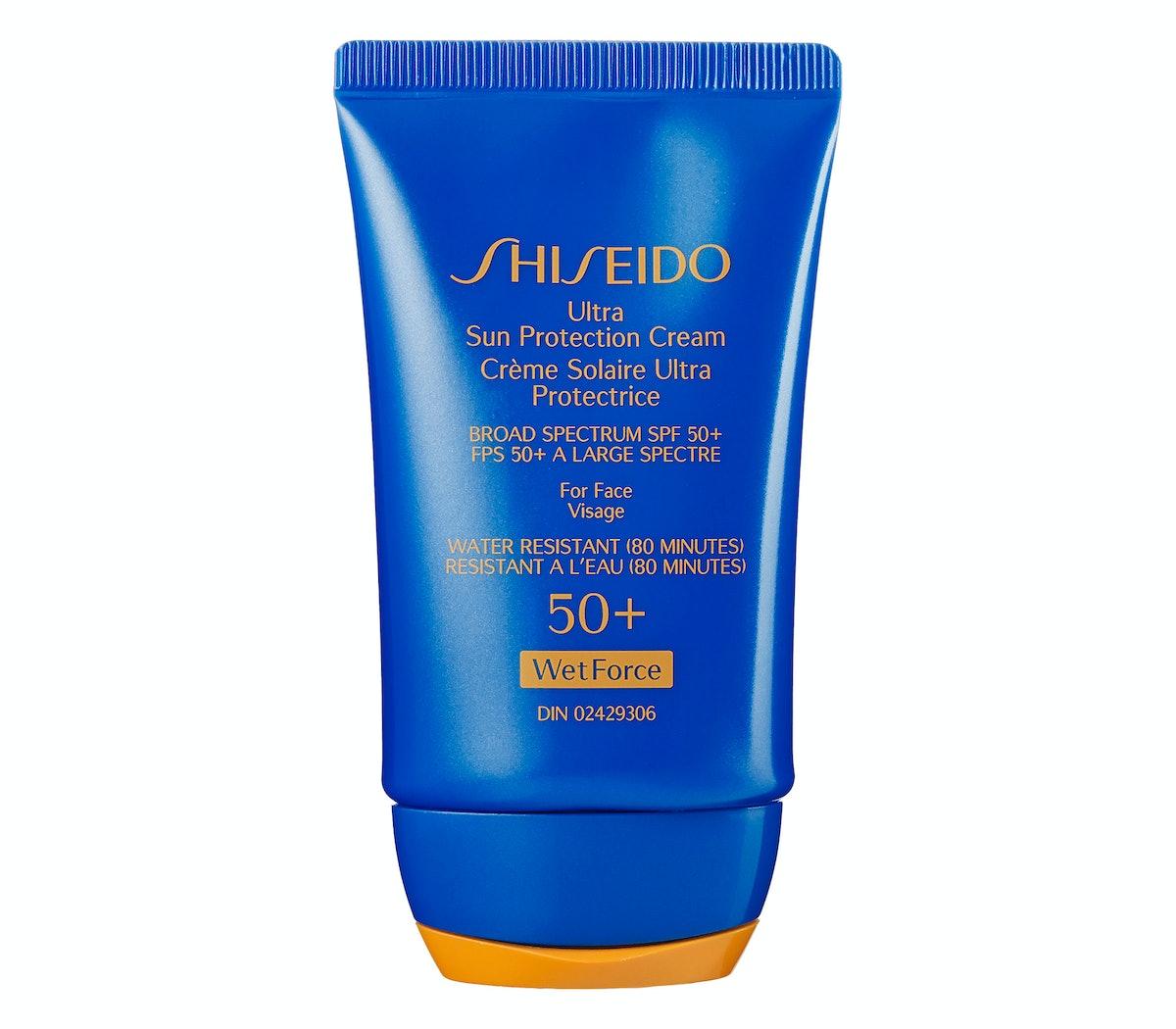 Shiseido Wetforce Ultimate Sun Protection Cream Broad Spectrum SPF 50+ for Face