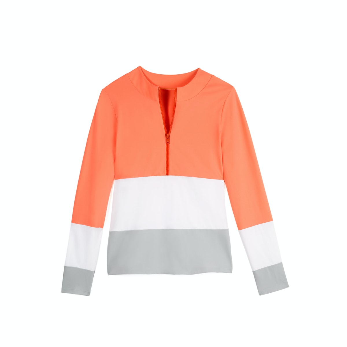 Parasol colorblock swim zip shirt