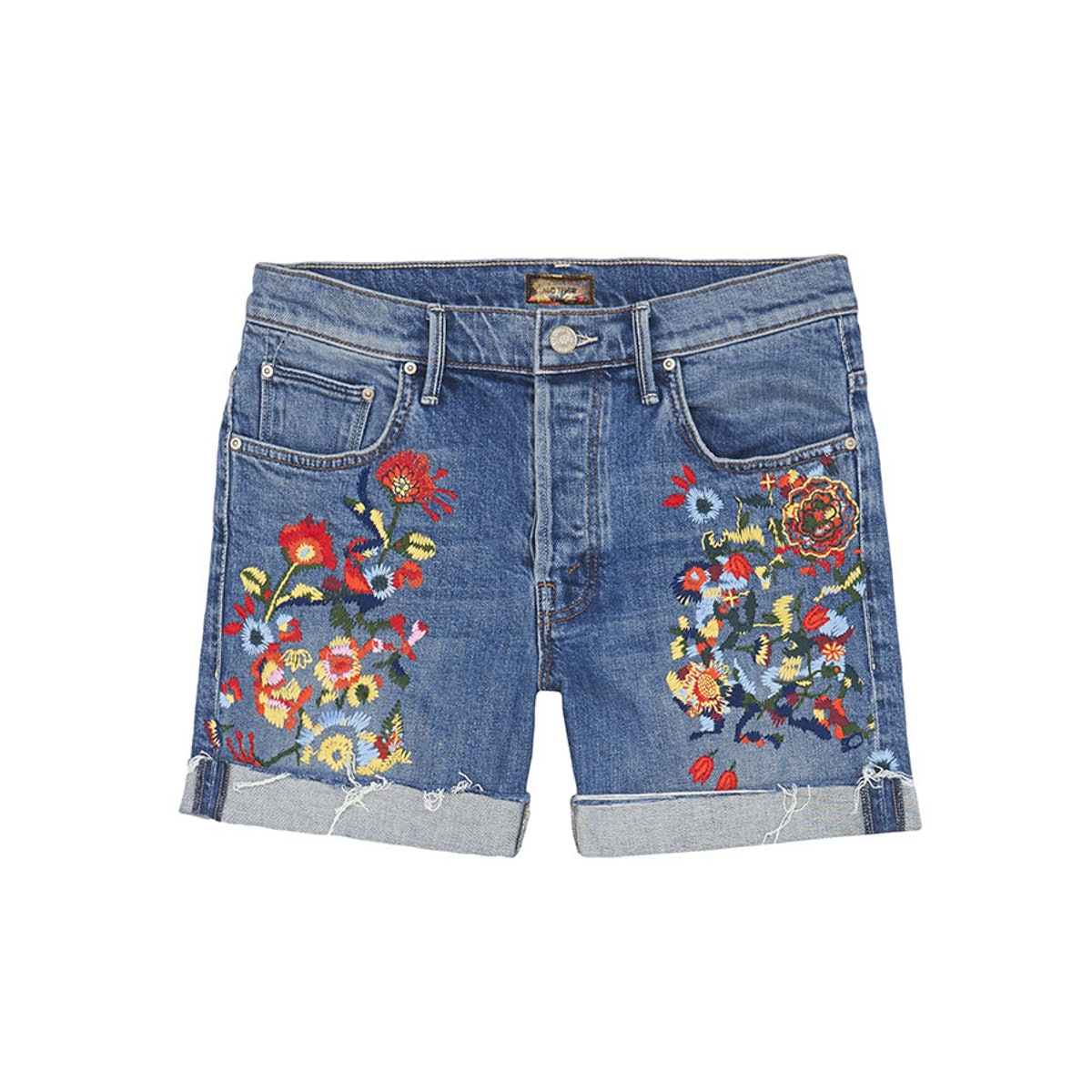 Mother Loosey Fray denim shorts