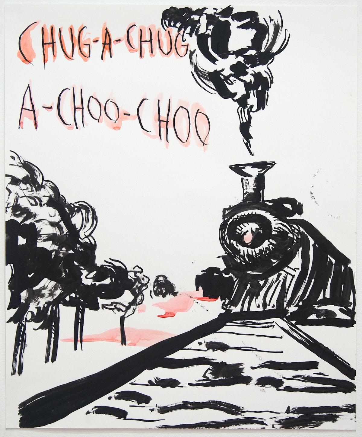 Raymond Pettibon's No Title (Chug-a-chug...)