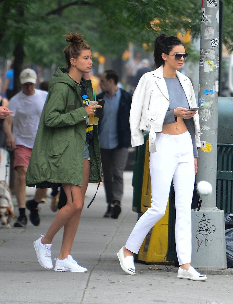 Hailey Baldwin and Kendall Jenner