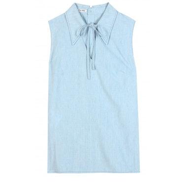 Miu Miu Sleeveless cotton shirt