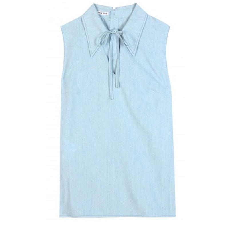 Miu Miu Sleeveless cotton shirt