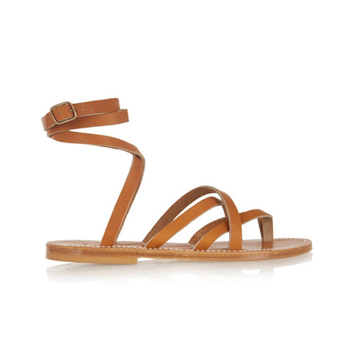 K.Jacques St Tropez Zenobie leather sandals