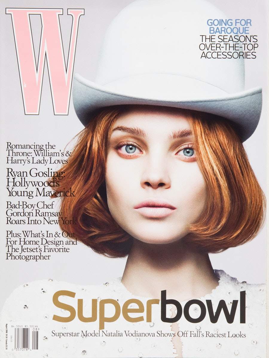 Natalia Vodianova on the cover of W Magazine August 2006