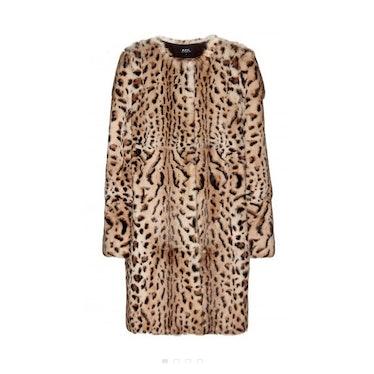 A.P.C. leopard-print rabbit fur coat