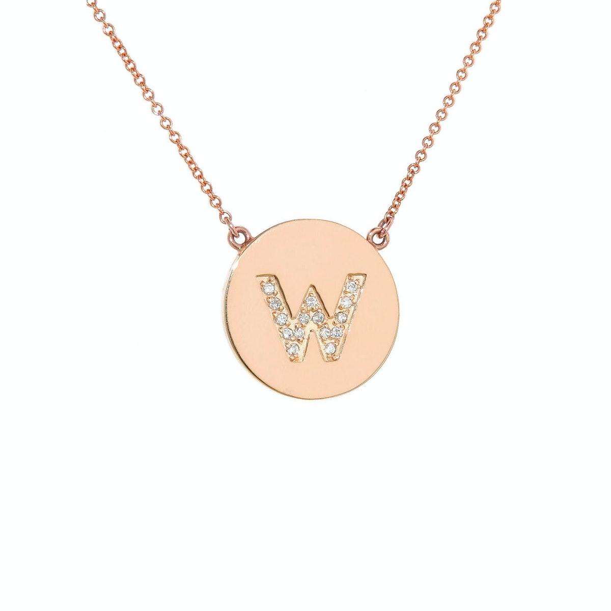 Jennifer Meyer rose gold and diamond necklace