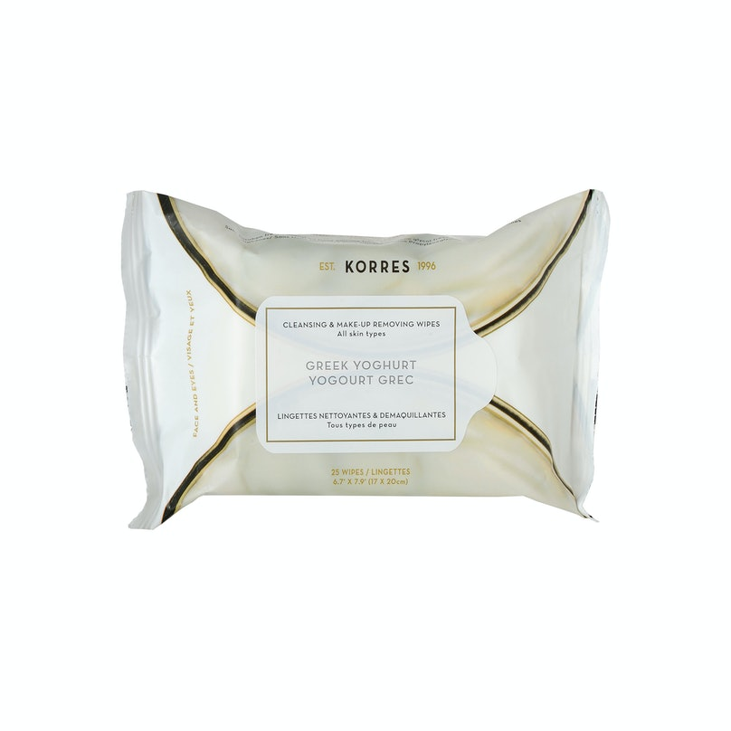 Korres Greek Yoghurt Daily Cleansing & Make-Up Removing Wipes