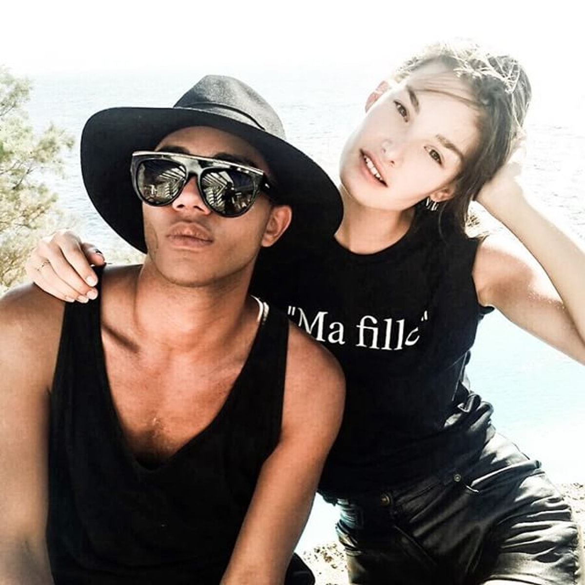Olivier Rousteing and Ophelie Guillermand