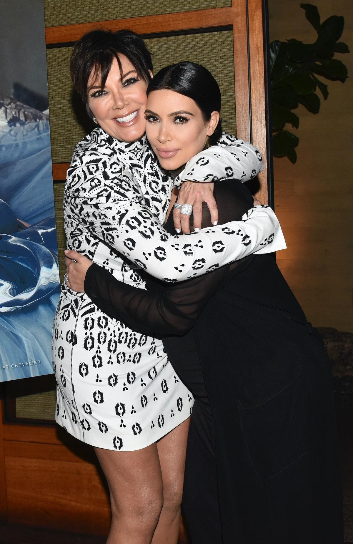 Kris Jenner and Kim Kardashian West