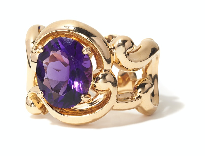 Fabergé gold and amethyst ring