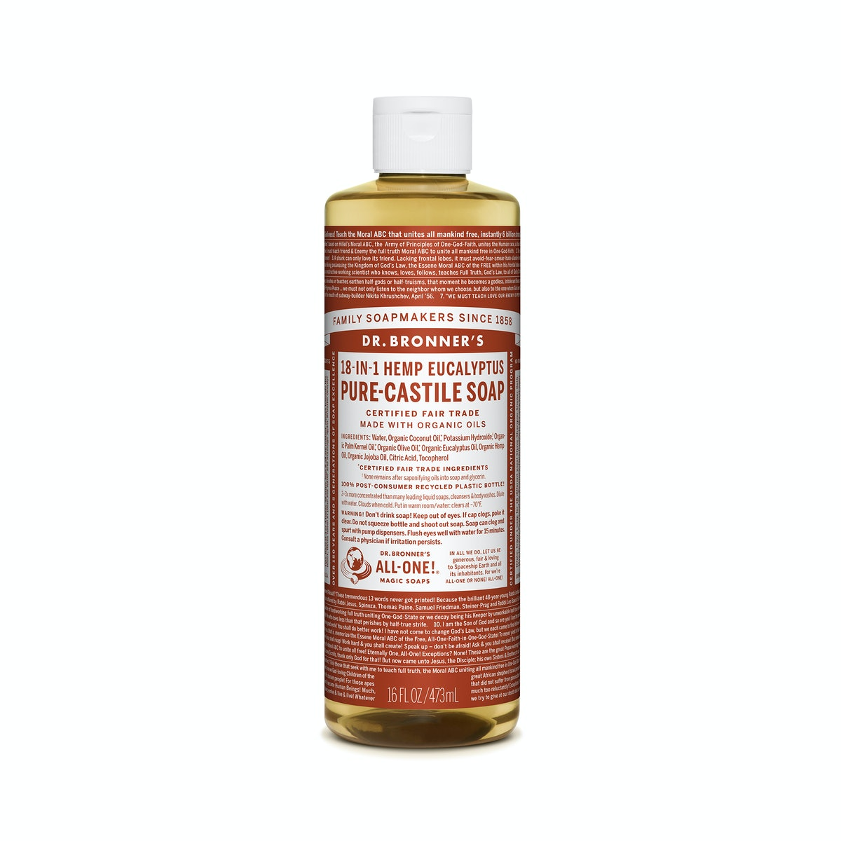 Dr. Bronner's Eucalyptus Pure Castille Liquid Soap