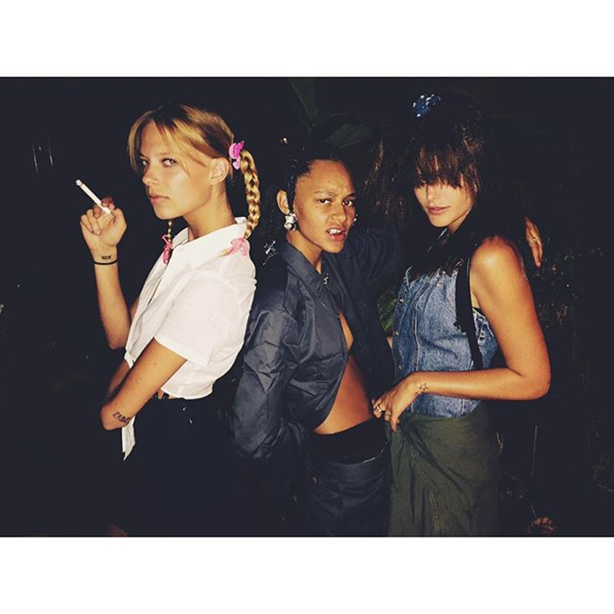 Fashion week party girls