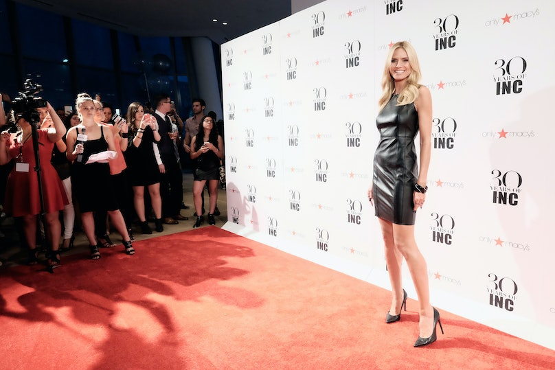 Heidi Klum attends Heidi Klum + Gabriel Aubry's celebration of the launch of INC's 30th Anniversary Collection