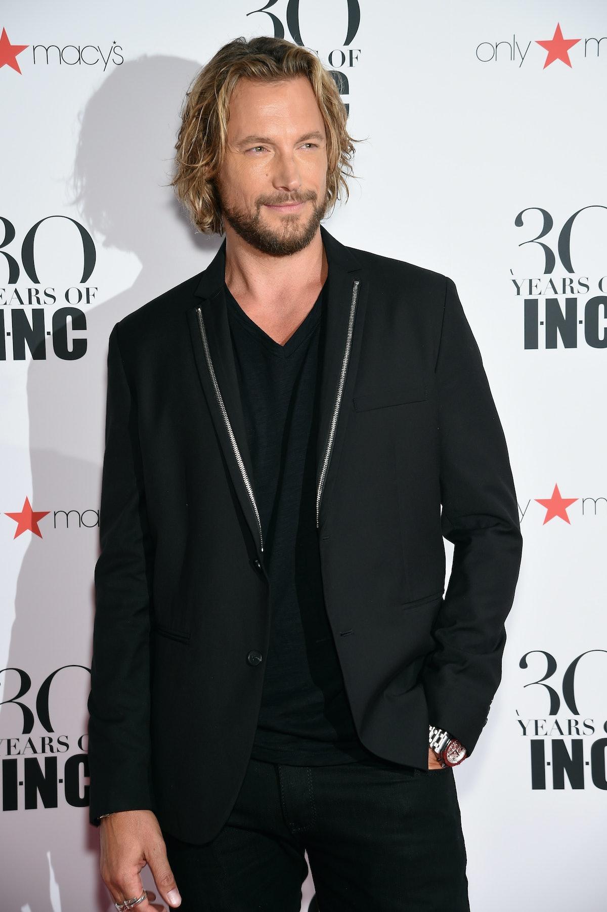 Gabriel Aubry attends Heidi Klum + Gabriel Aubry's celebration of the launch of INC's 30th Anniversary Collection