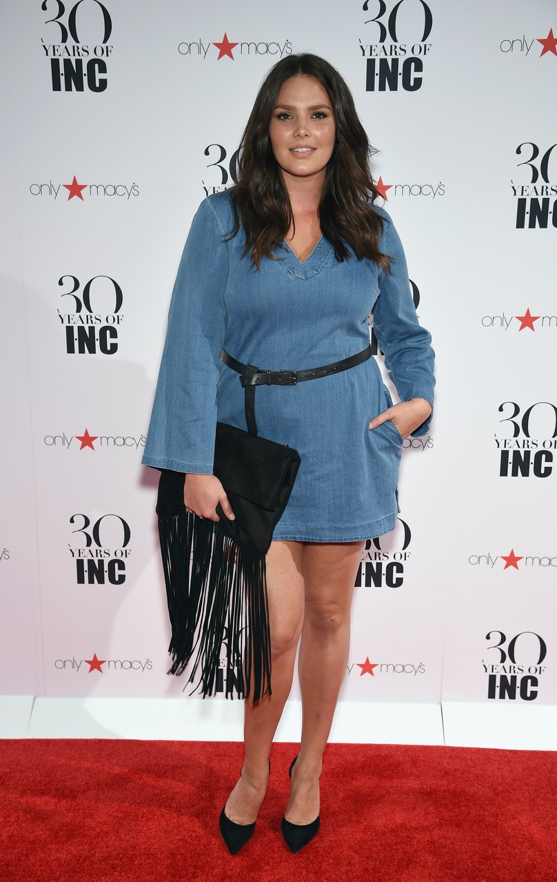 Candice Huffine attends Heidi Klum + Gabriel Aubry's celebration of the launch of INC's 30th Anniversary Collection