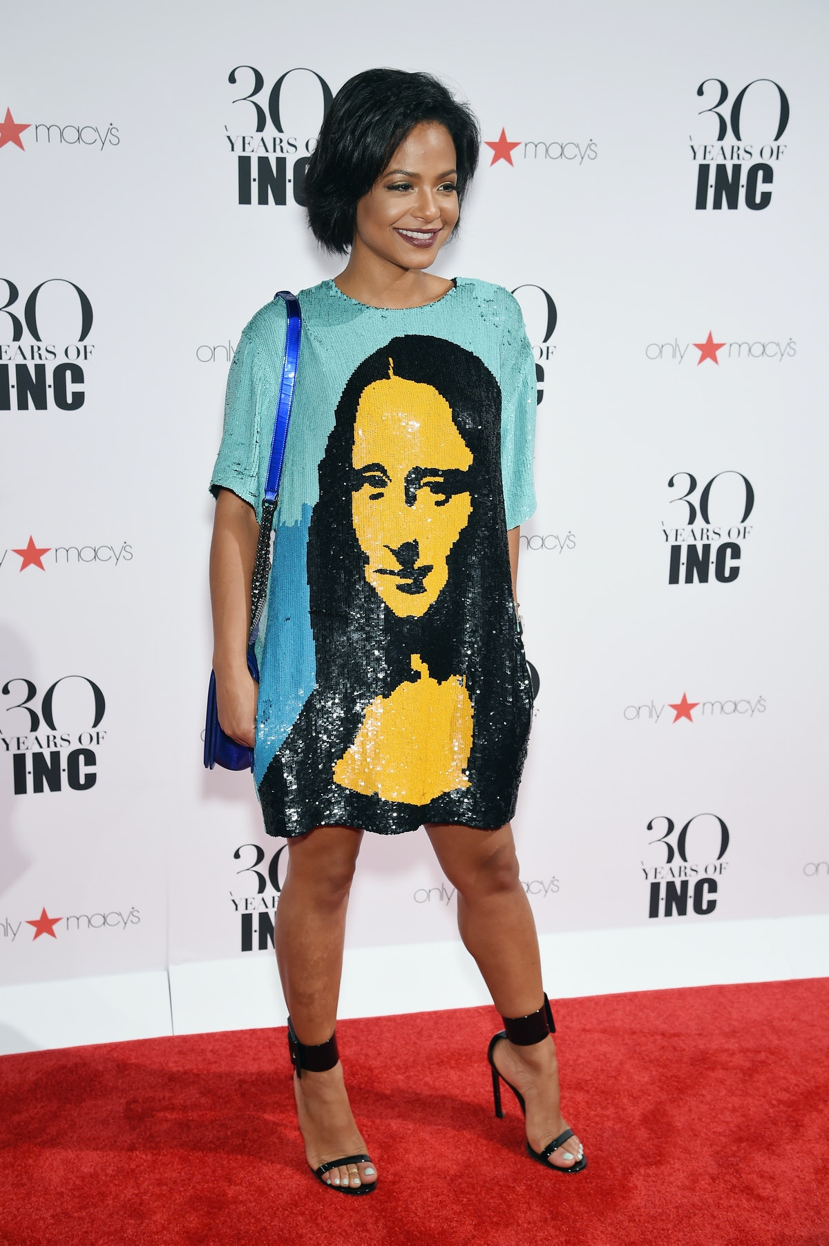 Christina Milian attends Heidi Klum + Gabriel Aubry's celebration of the launch of INC's 30th Anniversary Collection