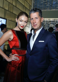 Gigi Hadid and Stefano Tonchi