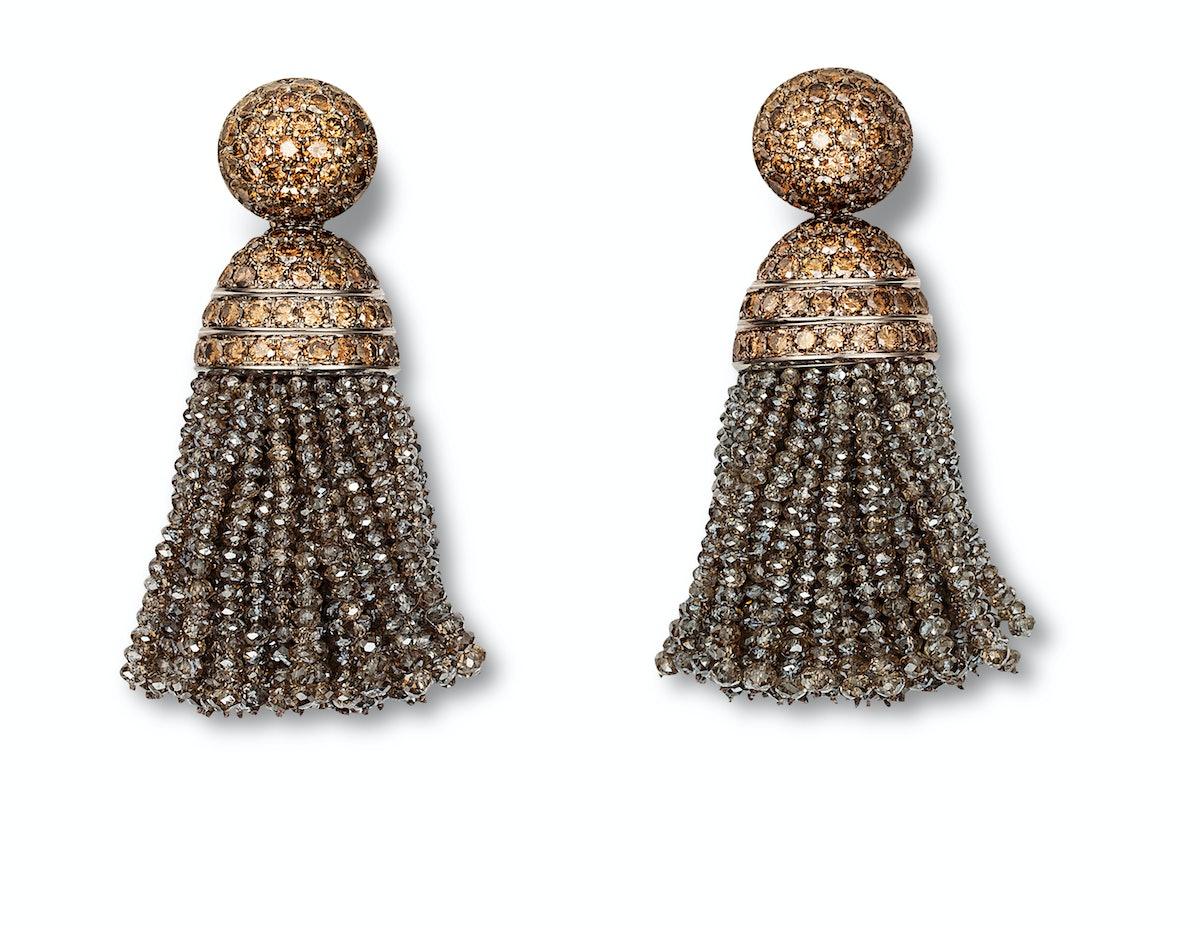 Hemmerle gold and diamond earrings