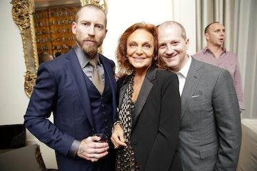 Justin O'Shea, Diane von Furstenberg, and Joshua Schulman