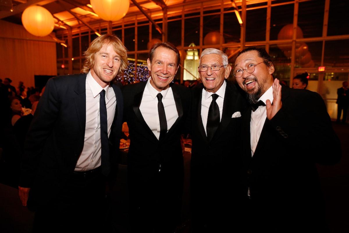 Owen Wilson, Jeff Koons, Founder Eli Broad, and Takashi Murakami