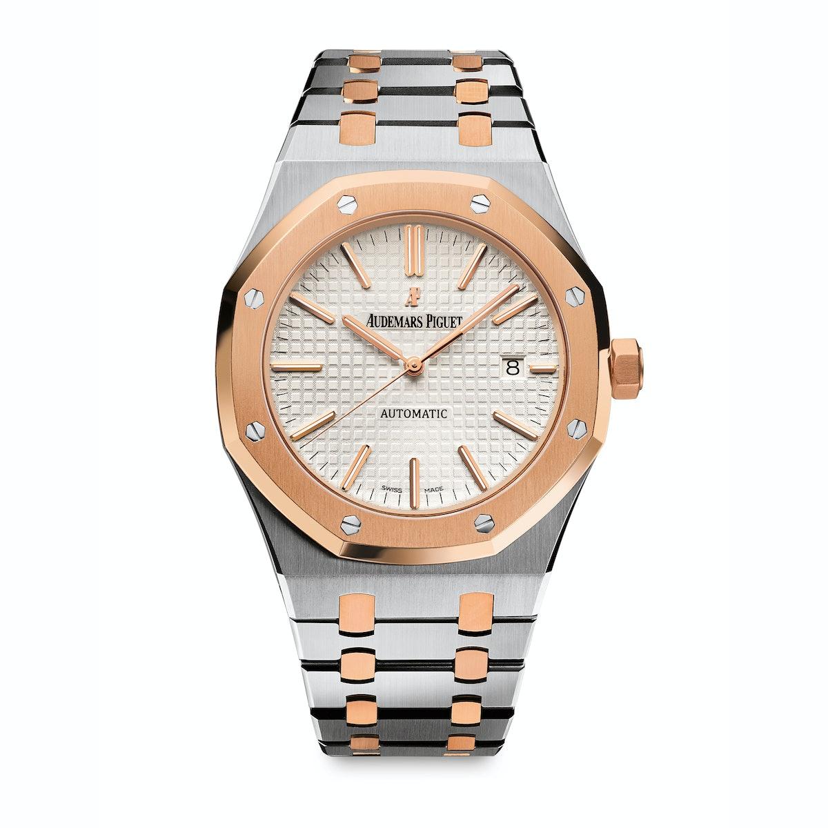Audemars Piguet stainless steel and gold watch