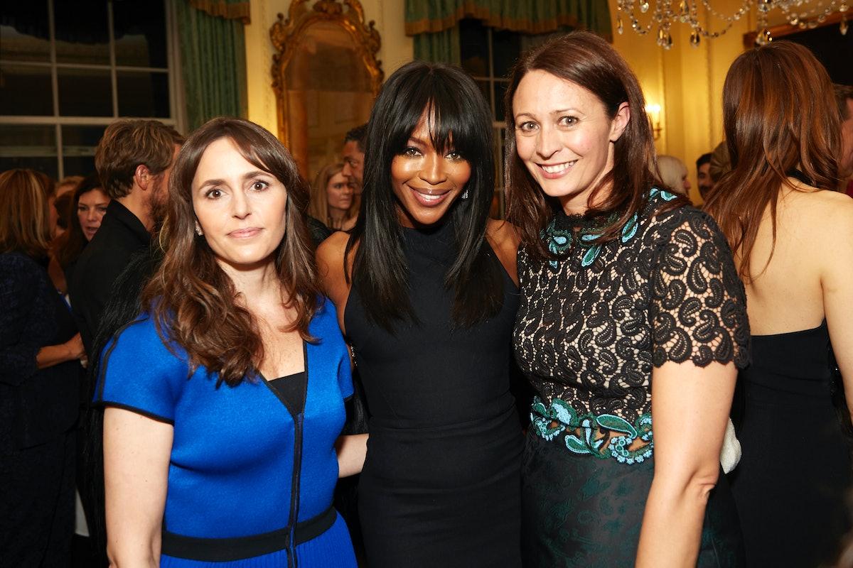 Tania Fares, Naomi Campbell, and Caroline Rush