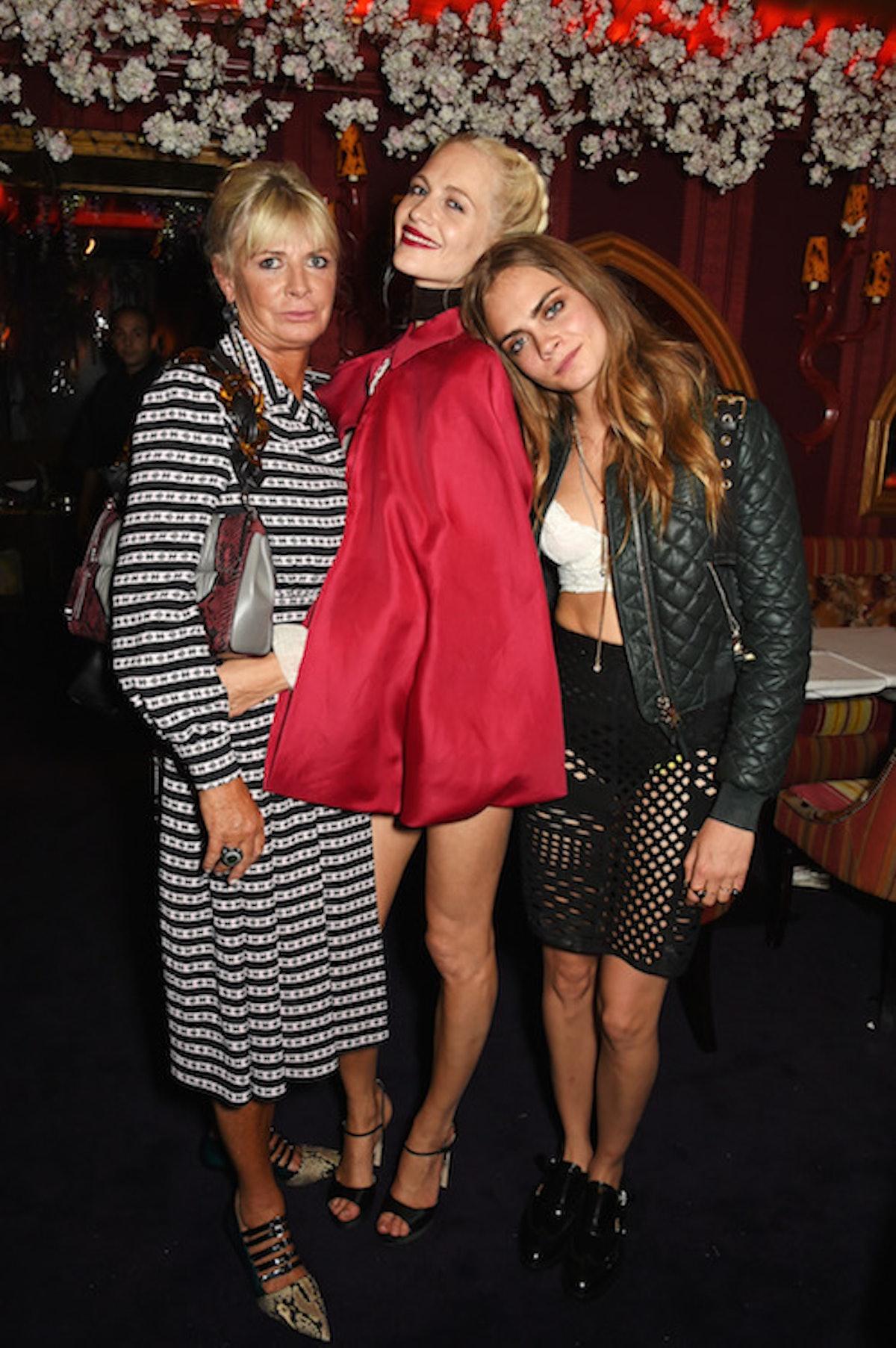 Pandora Delevingne, Poppy Delevingne and Cara Delevingne