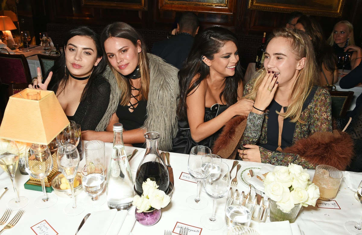 Charli XCX, Atlanta de Cadenet Taylor, Selena Gomez and Suki Waterhouse