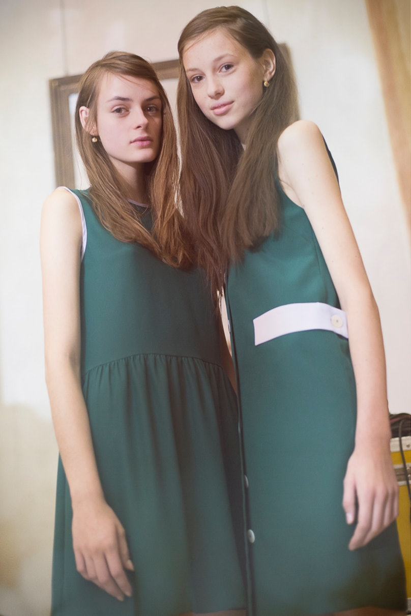 Backstage at Arthur Arbesser Spring 2016