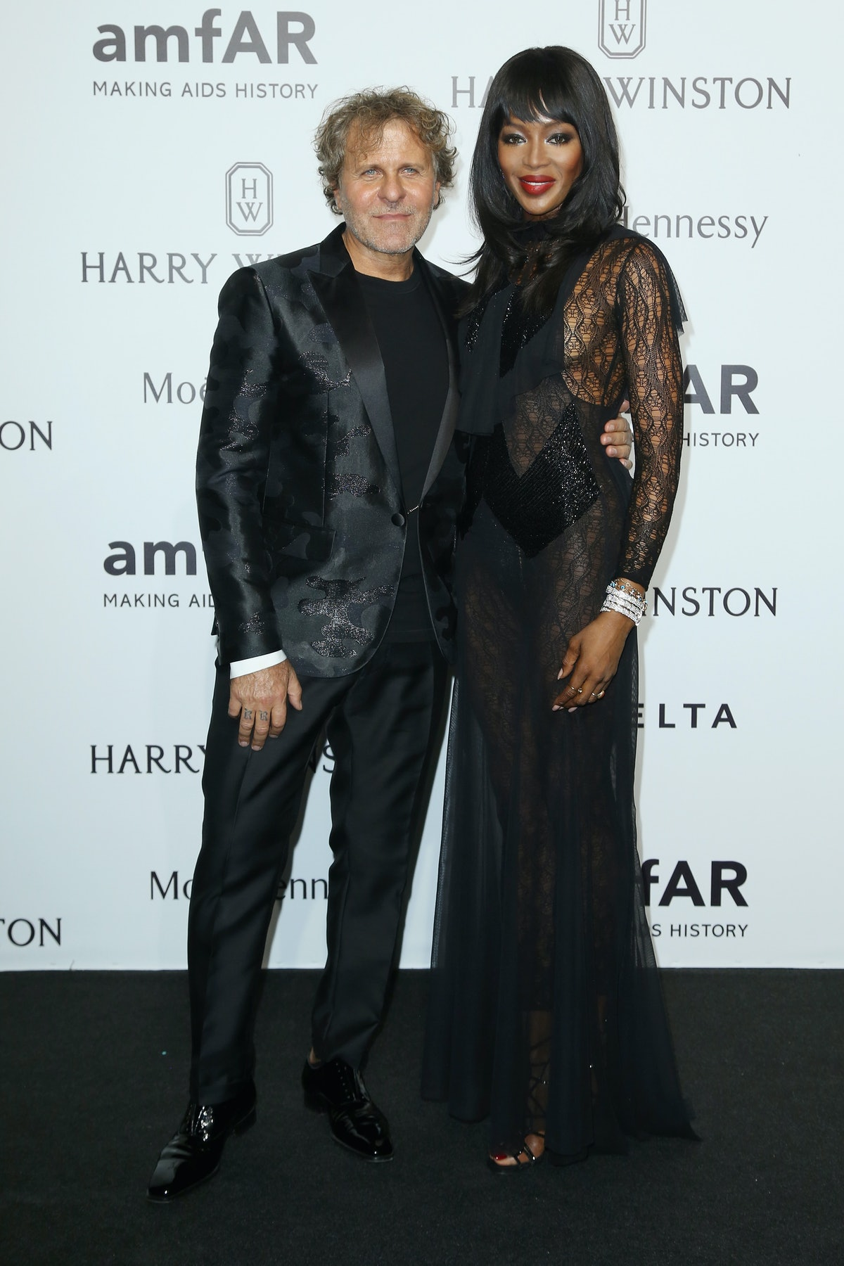Renzo Rosso and Naomi Campbell