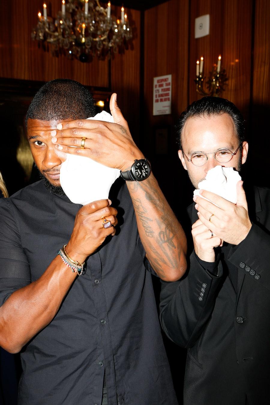 Daniel Arsham and Usher Raymond