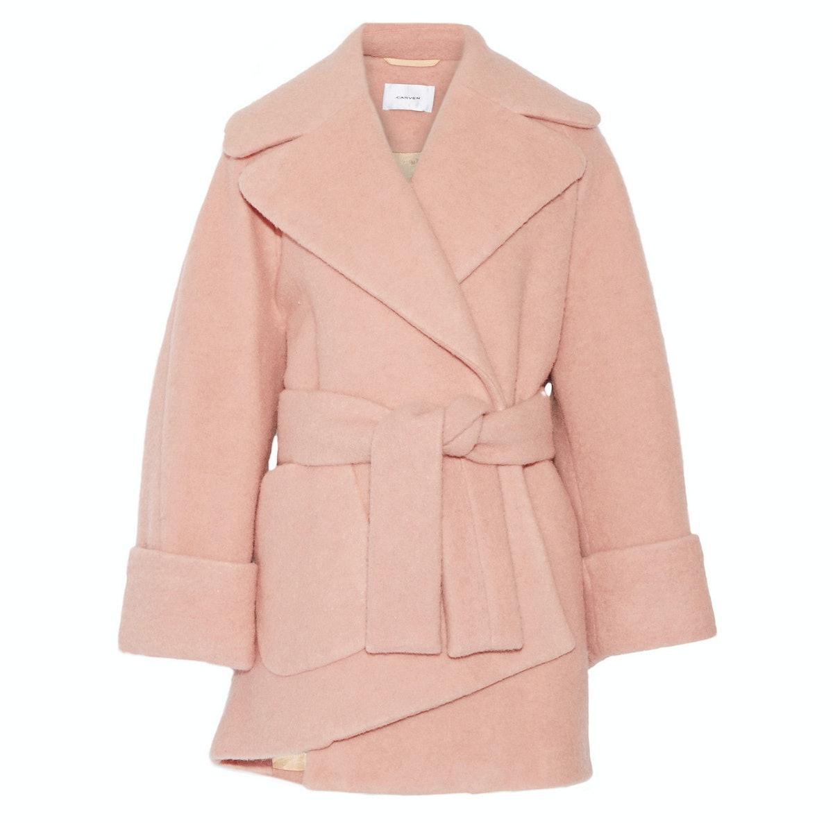 Carven oversized boiled wool-blend coat