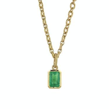 Irene Neuwirth emerald and yellow gold charm