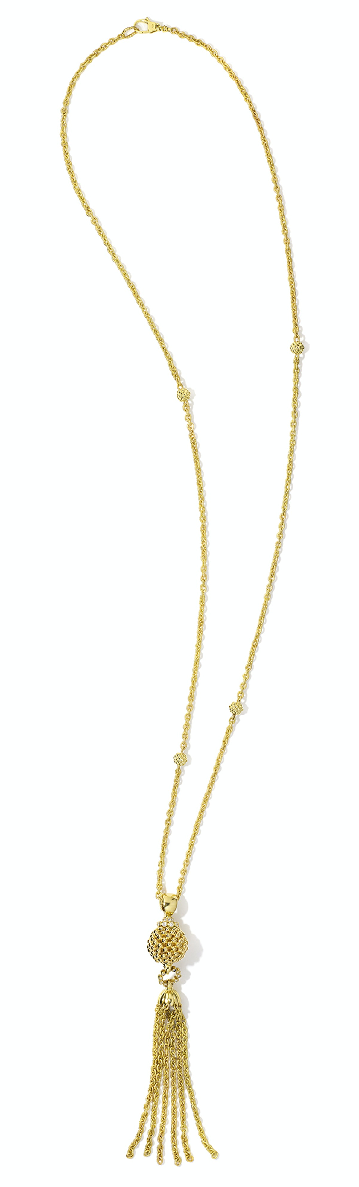 Lagos gold and diamond necklace