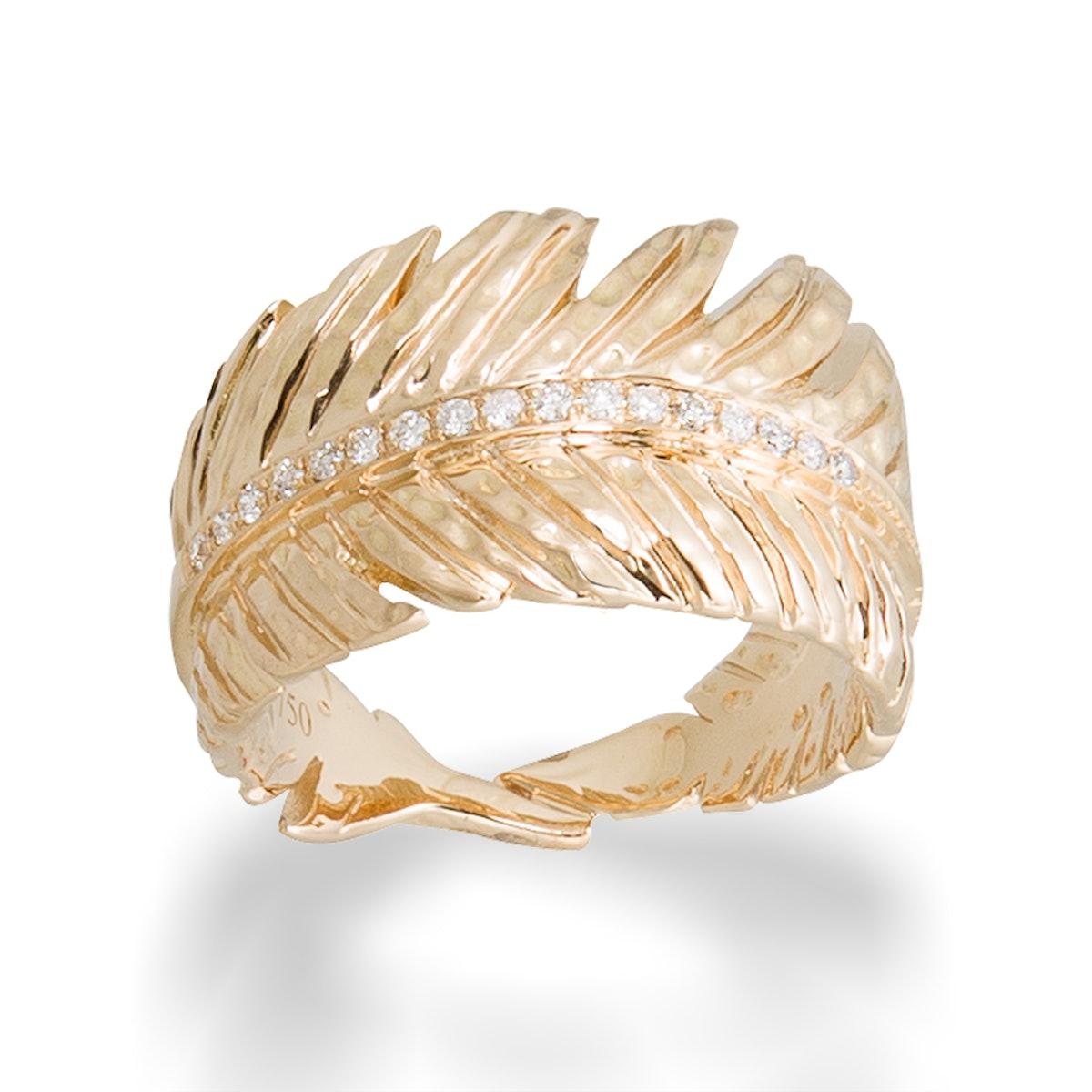 Michael Aram gold and diamond ring