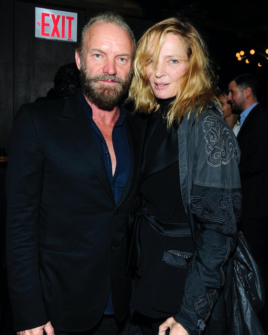 Sting and Uma Thurman