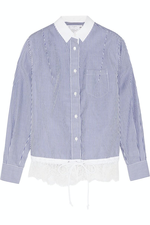 Sacai shirt, $520, netaporter.com