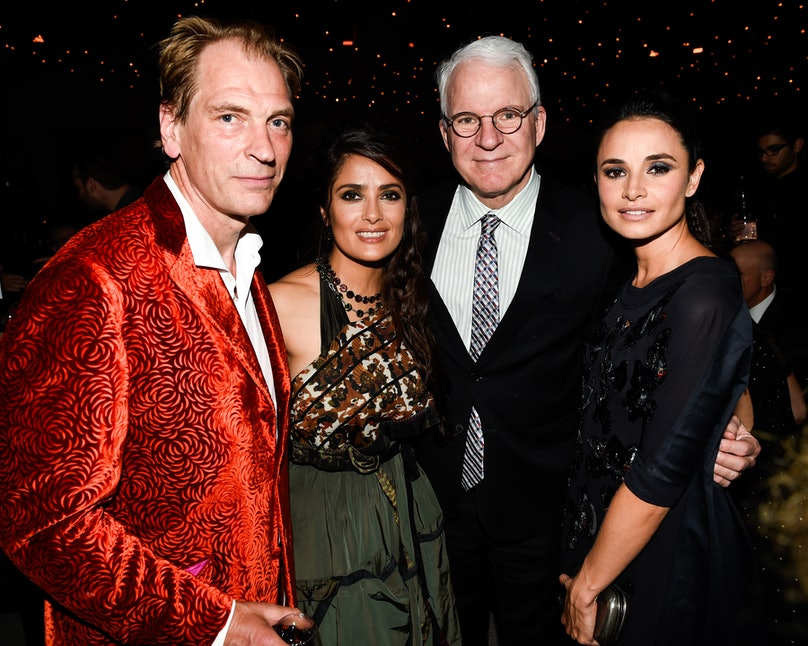 Julian Sands, Salma Heyek, Steve Martin, and Mia Maestro