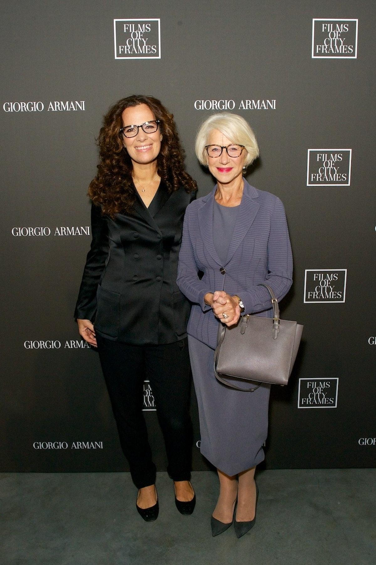 Roberta Armani and Helen Mirren