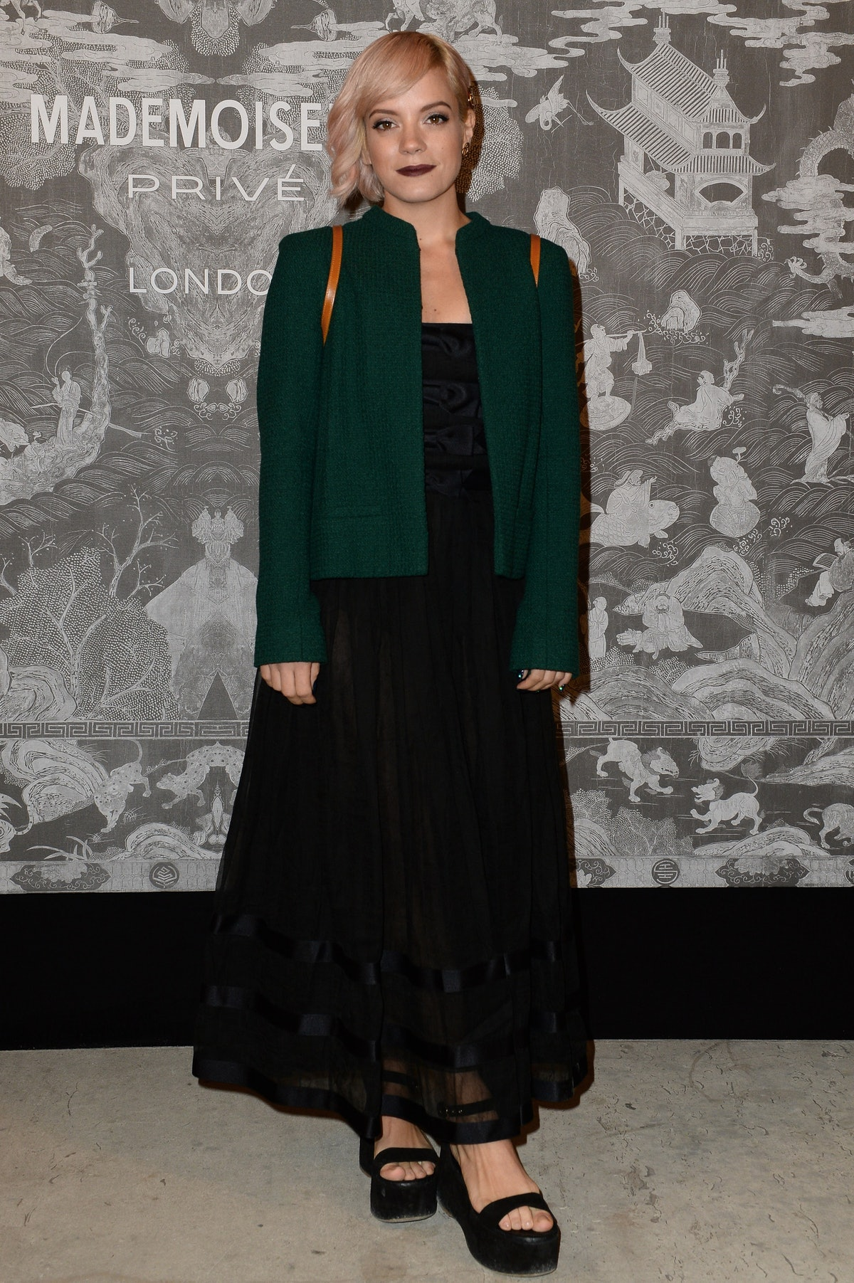 Mademoiselle Privé_Saatchi Gallery London_Photocall pictures by Dave Benett_Lily Allen