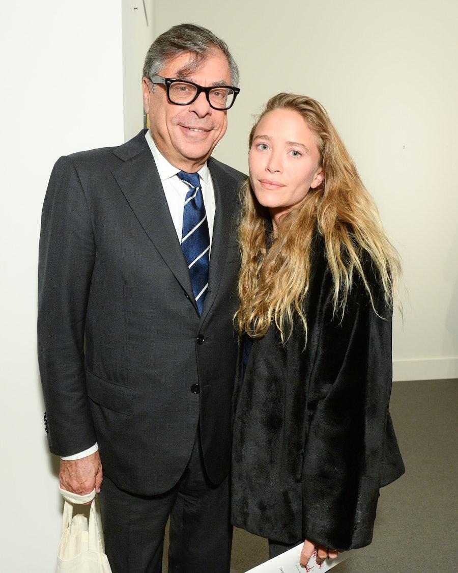 Bob Colacello and Mary-Kate Olsen