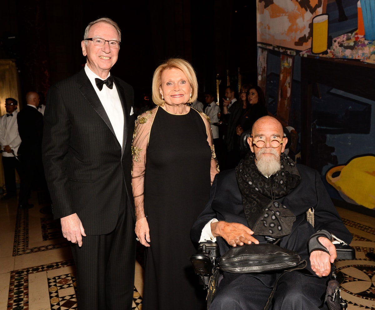Irwin Jacobs, Joan Jacobs, and Chuck Close